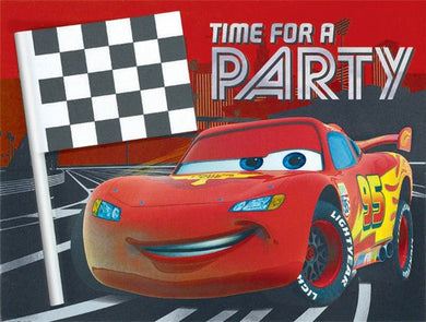 Cars Lightning McQueen Deluxe Invitations