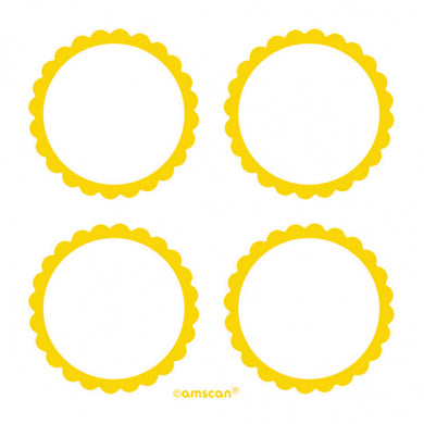 Sunshine Yellow Scalloped Labels