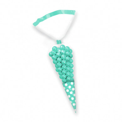 Robins Egg Blue Polka Dot Cello Cone Shaped Treat Bags