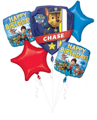 Paw Patrol Happy Birthday Foil Balloon Bouquet