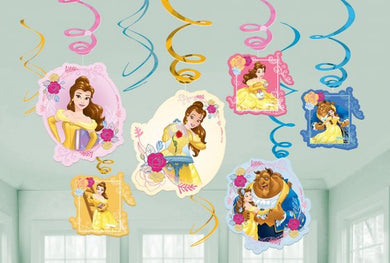 Beauty & the Beast Hanging Swirl Decorations