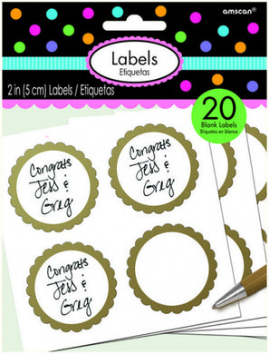 Gold Scalloped Labels