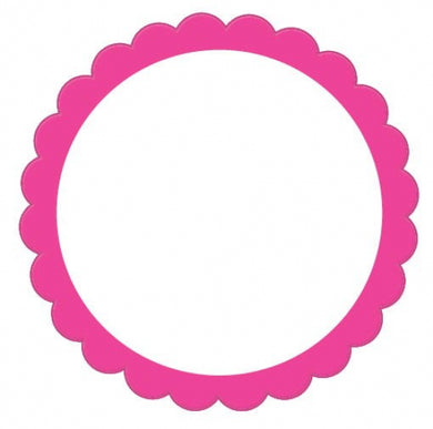 Bright Pink Scalloped Labels