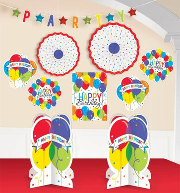 Balloon Bash Birthday Party Room Decorating Kit (10 Piece)