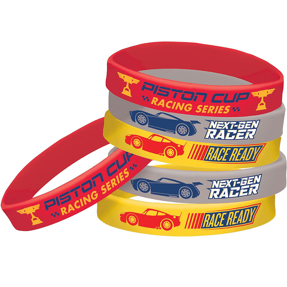 Cars Lightning McQueen Rubber Bracelet Favours