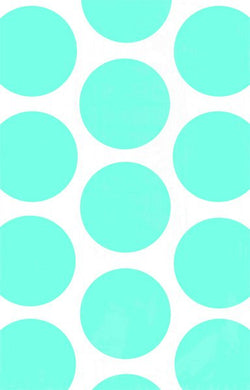 Polka Dot Caribbean Blue Paper Favour Bags