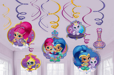 Shimmer & Shine Hanging Swirl Decorations