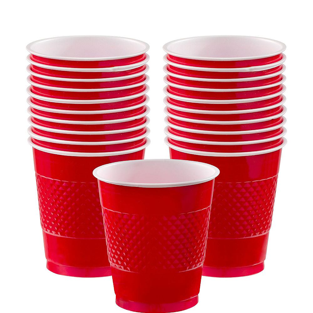 Apple Red Plastic Party Cups 355ml