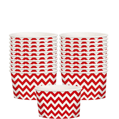 Red Chevron Treat Cups