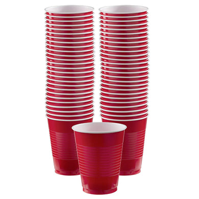 Big Party Pack Apple Red Plastic Party Cups 473ml