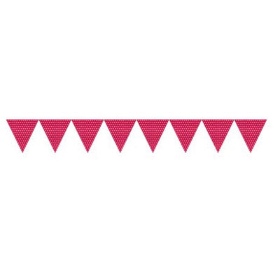 Classic Red Polka Dot Pennant Banner