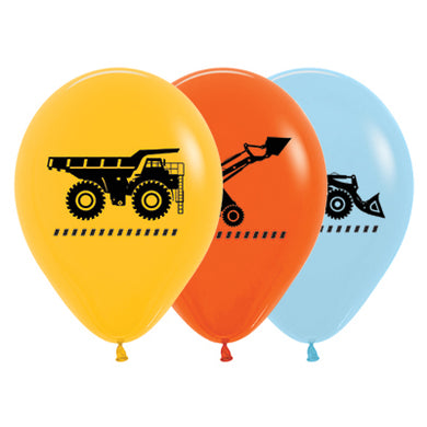Construction Zone 30cm Latex Balloons