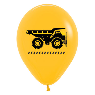 Construction Zone Yellow 30cm Latex Balloons
