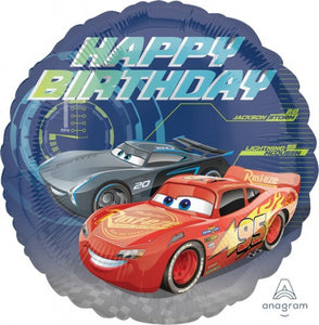 "Cars Lightning McQueen Happy Birthday 17"" Foil Balloon"
