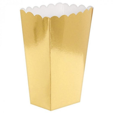 Solid Metallic Gold Popcorn Box