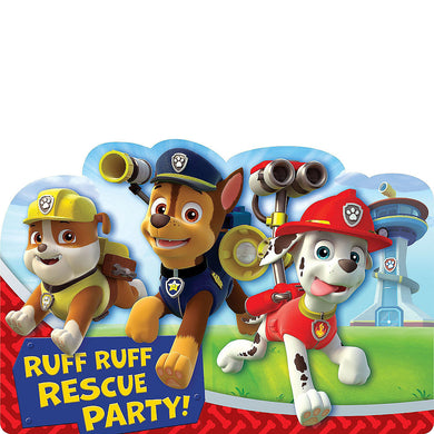 Paw Patrol Invitations