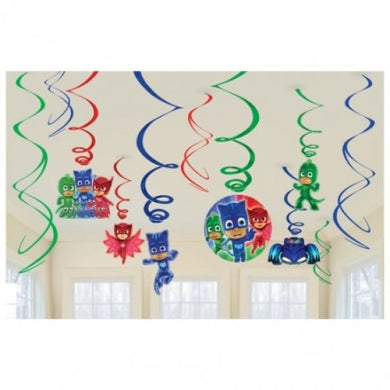 PJ Masks Hanging Swirl Decorations