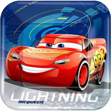 Cars Lightning McQueen Lunch Plates