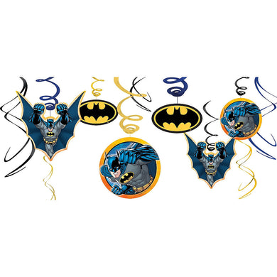 Batman Hanging Swirl Decorations