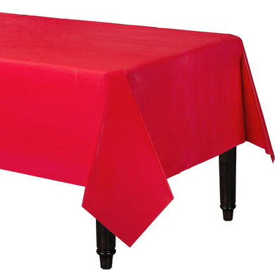 Apple Red Plastic Table Cover