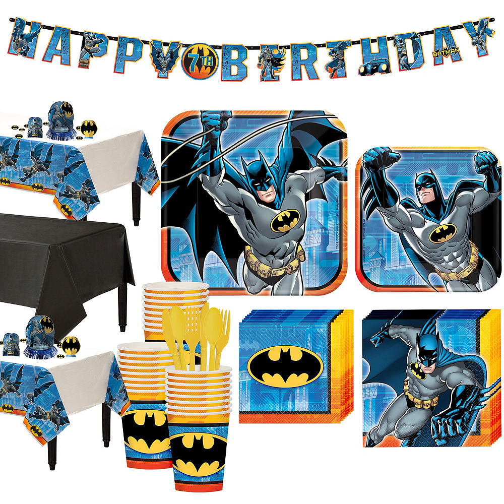 Batman Tableware Party Kit for 24 Guests