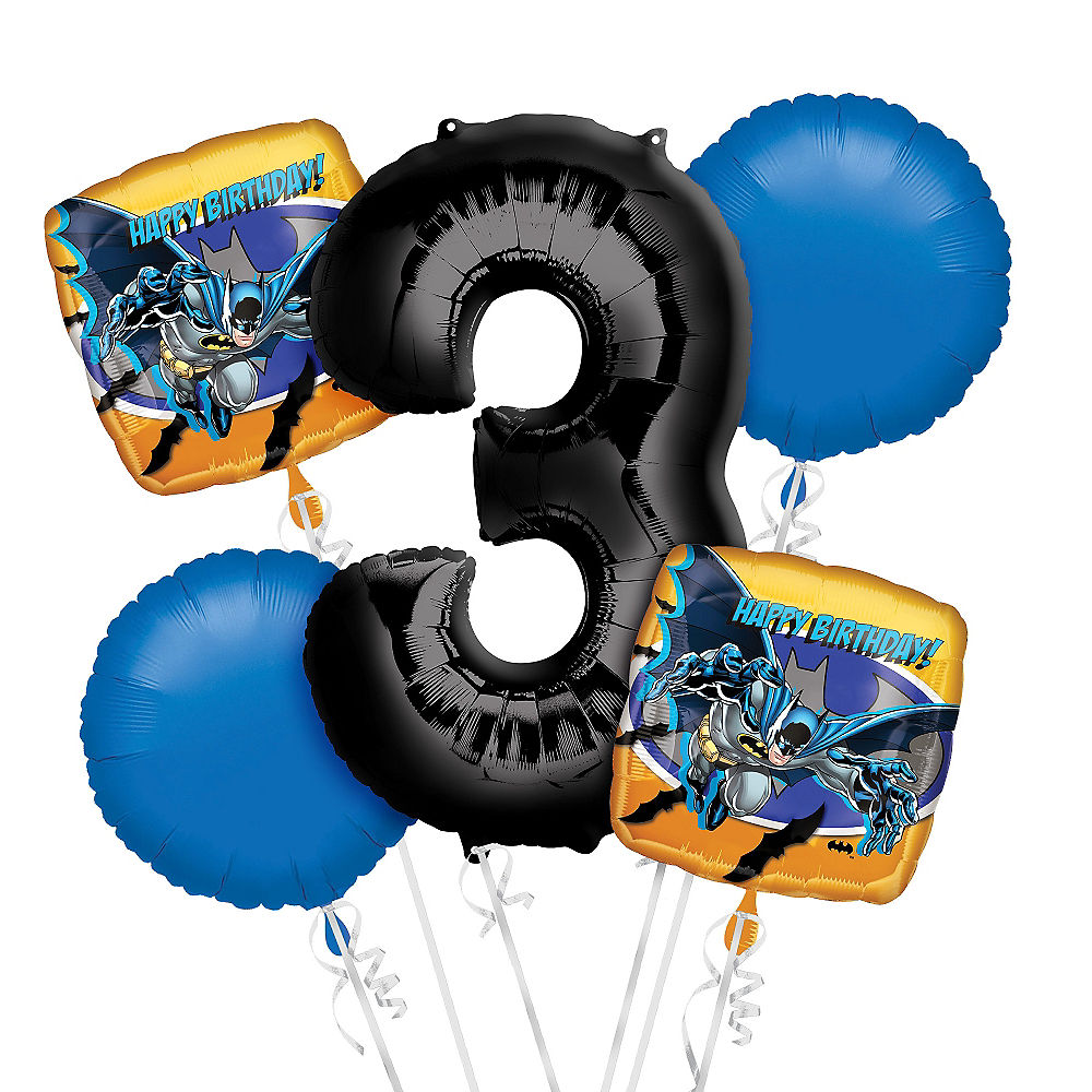 Batman 3rd Birthday Balloon Bouquet