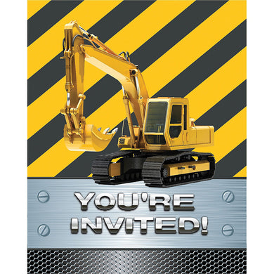 Construction Zone Party Invitations