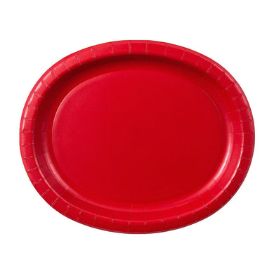 Apple Red Oval Plates