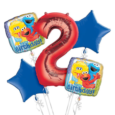 Sesame Street 2nd Birthday Balloon Bouquet