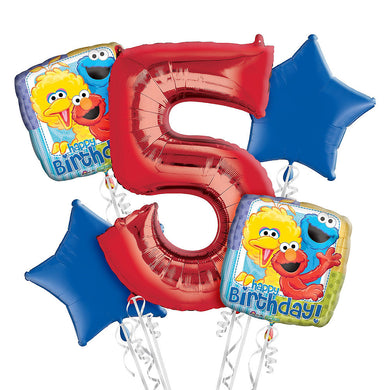 Sesame Street 5th Birthday Balloon Bouquet