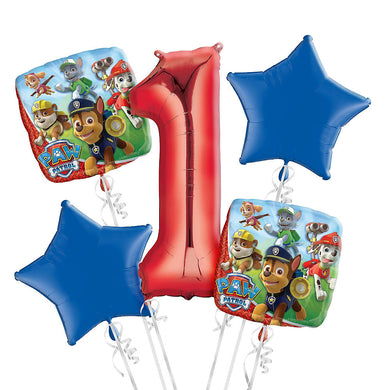 Paw Patrol 1st Birthday Foil Balloon Bouquet