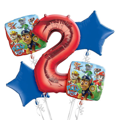 Paw Patrol 2nd Birthday Foil Balloon Bouquet