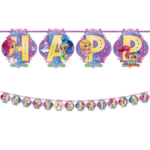 Shimmer & Shine Birthday Banner Kit