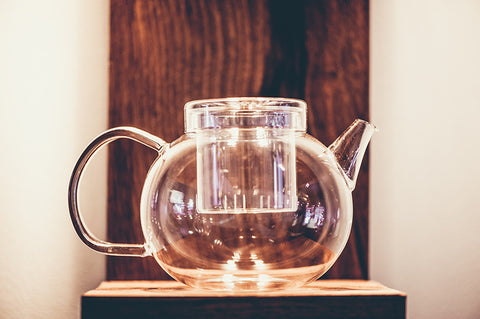 Bowl shaped glass teapot - 600ml