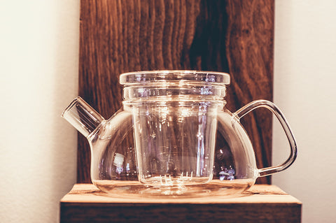 Flat base glass teapot - 600ml