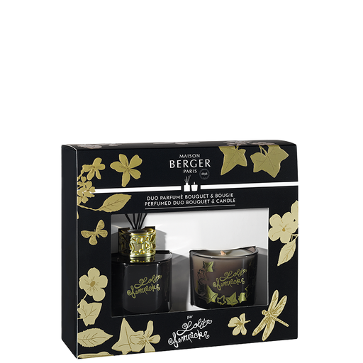 Maison Berger Paris  Mini Duo Lolita Lempicka Pre-filled Deco Reed Diffuser 80ml + Candle 80g