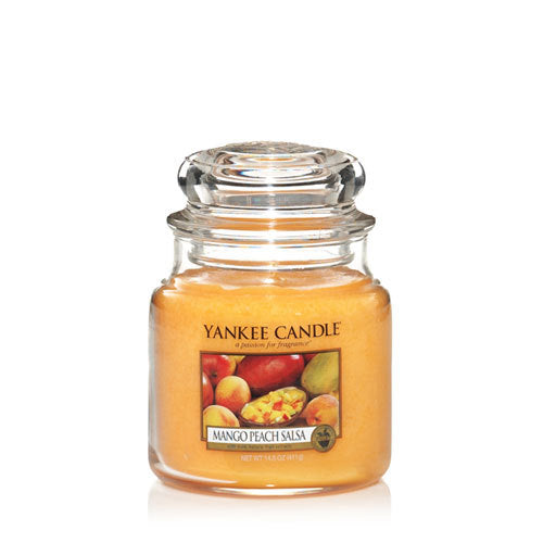 Yankee Candle Mango Peach Salsa Medium Jar Geurkaars
