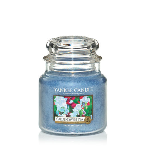 Yankee Candle Garden Sweet Pea Medium Jar Geurkaars