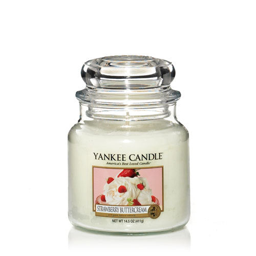 Yankee Candle Strawberry Buttercream Medium Jar Geurkaars