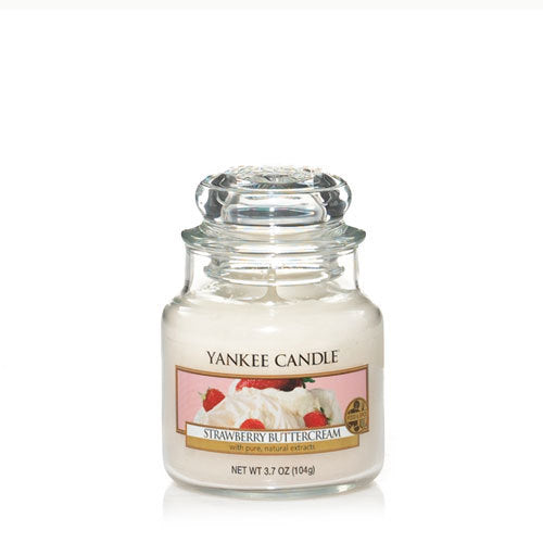 Yankee Candle Strawberry Buttercream Small Jar Geurkaars