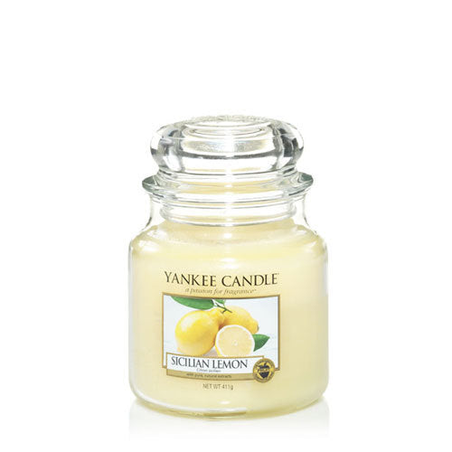 Yankee Candle Sicilian Lemon Medium Jar Geurkaars