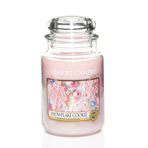 Yankee Candle Snowflake Cookie Large Jar Geurkaars