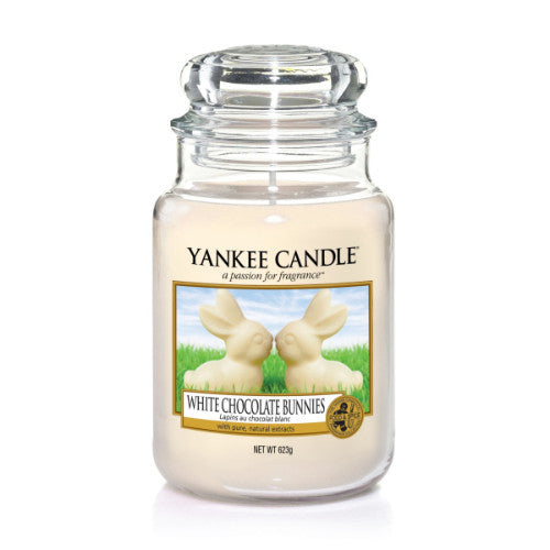 Yankee Candle White Chocolate Bunnies Large Jar Geurkaars Limited Edition