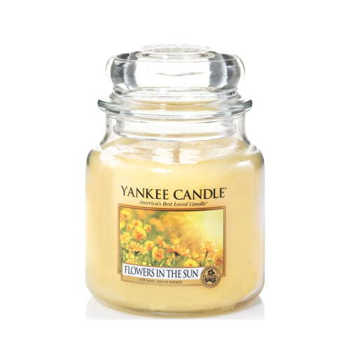 Yankee Candle Flowers In The Sun Medium Jar Geurkaars