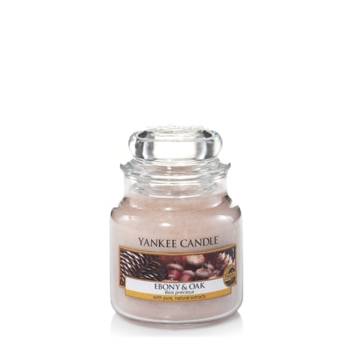 Yankee Candle Ebony & Oak Small Jar Geurkaars