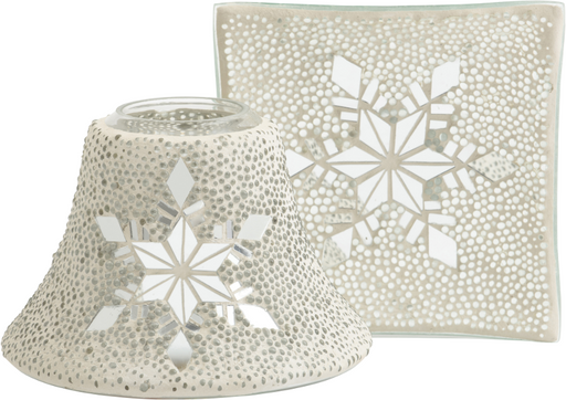 Yankee Candle Twinkling Snowflake Large Shade & Tray