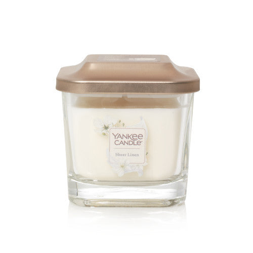 Yankee Candle Sheer Linen Small Elevation Geurkaars