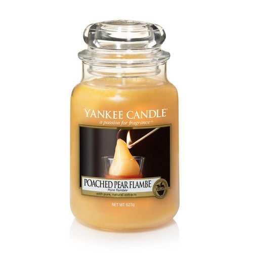 Yankee Candle Poached Pear Flambe Large Jar Geurkaars Limited Edition