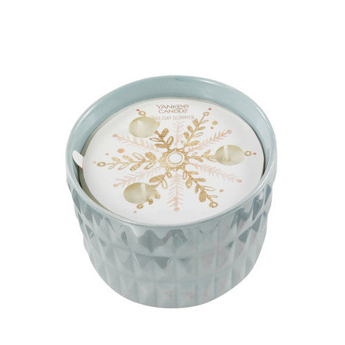 Yankee Candle Winter Wish Holiday Glimmer 3-Wick Ceramic