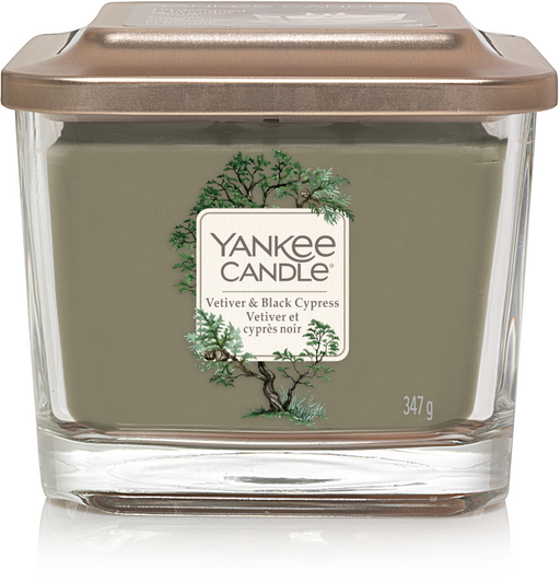 Yankee Candle Vetiver & Black Cypress Medium Elevation